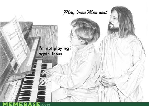 holy spirit jesus LOL Jesus Music organ trolling - 4302894336