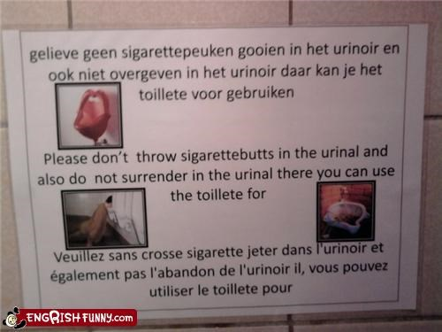 cigarette sign smoke urinal - 4303118336