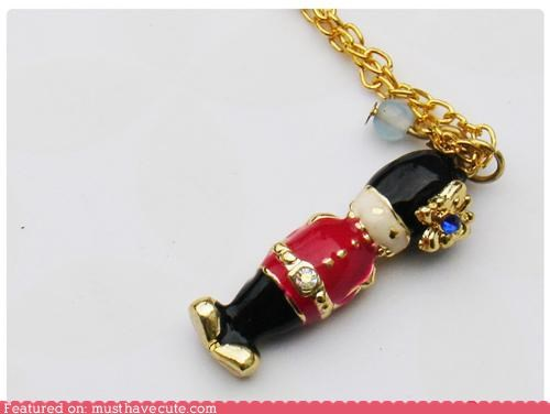 chain charm enamel gold guard Jewelry necklace pendant - 4303236864