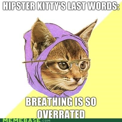 breathing,Hipster Kitty,mainstream,overrated,oxygen