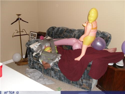blow-up doll,duct tape,eww,passed out,wtf