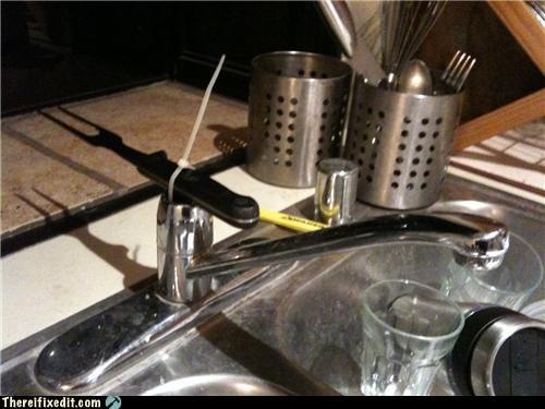bad idea faucet fork sharp sink - 4304221184