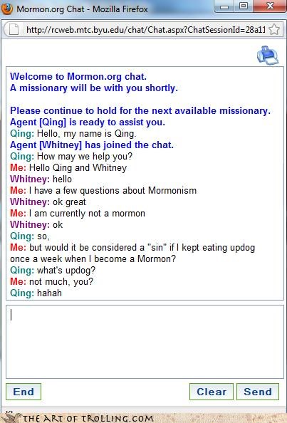 mormon Mormon Chat old jokes are still funny qing updog whats-snew - 4304693248
