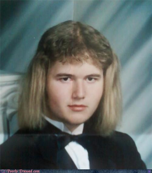 dog ears fancy hair mullet old school tux