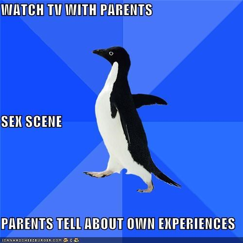 parents sex scene socially awkward penguin TMI TV - 4305385984