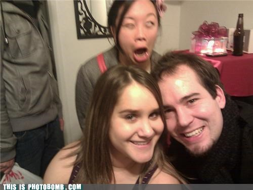 asians beer Party photobomb zombie