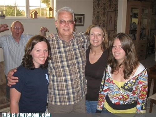 awesome,group,old guy,photobomb