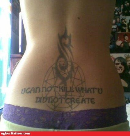 tramp stamps,tribal,words