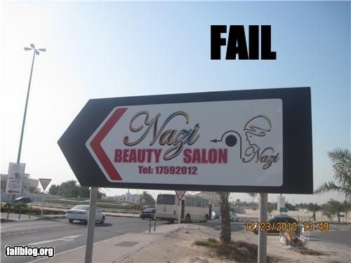 bad idea,beauty,failboat,g rated,name,nazi,salon,sign