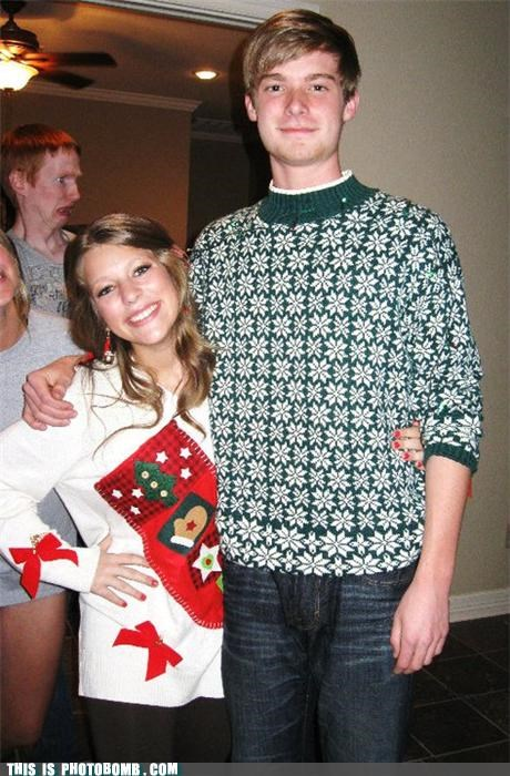 ginger holidays photobomb sad but true sweaters