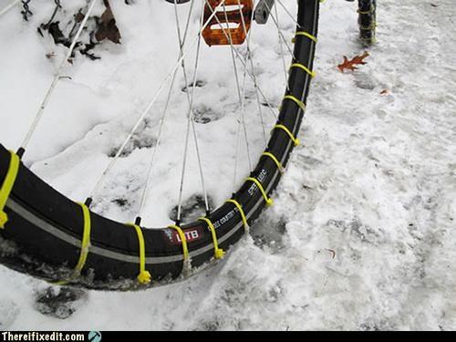 bike chains snow winter zip tie - 4306537216