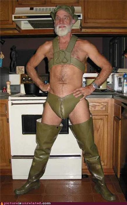 dad Fetish kitchen leather old guy wtf - 4306537984