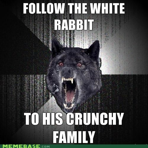 alice in wonderland,crunchy,Insanity Wolf,white rabbit