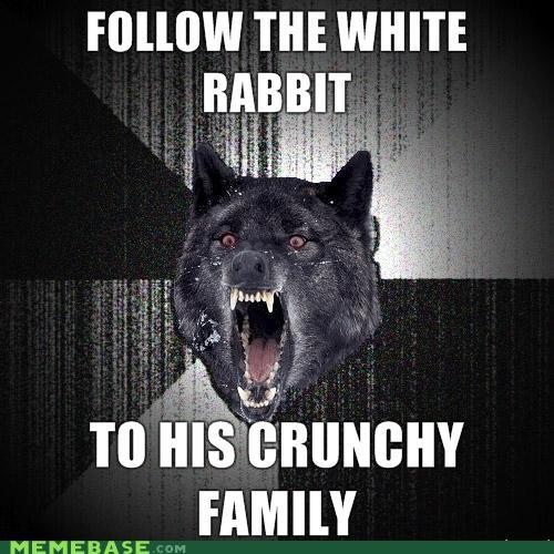 alice in wonderland crunchy Insanity Wolf white rabbit - 4306556928