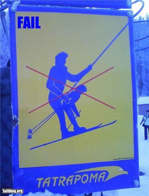 failboat image innuendo no thank you sign skilift sports Things That Are Doing It winter - 4306888960