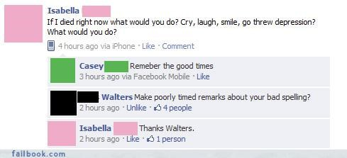 awkward moments nice try The Spelling Wizard witty comebacks you asked your friends are laughing at you