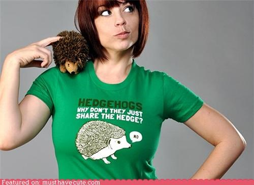 hedgehog selfish share shirt tshirt