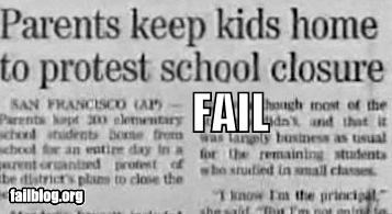failboat,g rated,newspaper,parents,Protest,school,students,think about it