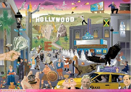 art illustration movies puzzle - 4307567104