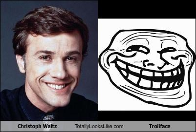 actor christoph waltz meme trollface