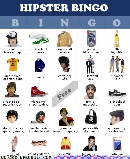 bingo,hipster