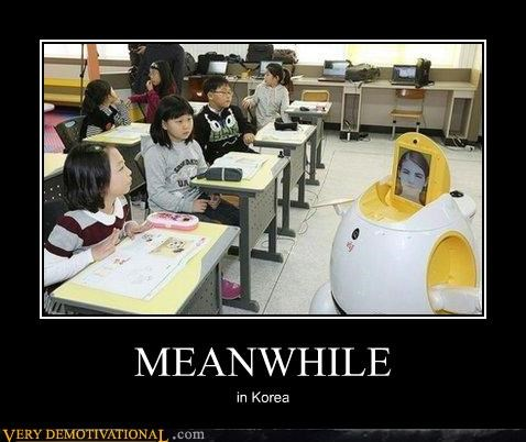 danger,korea,robots,school,wtf
