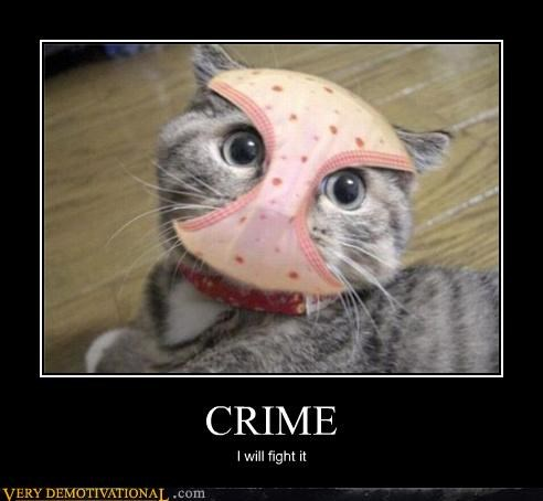 CRIME I will fight it