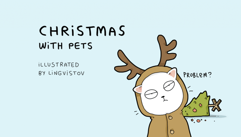 christmas pets livingstov web comics - 4308229