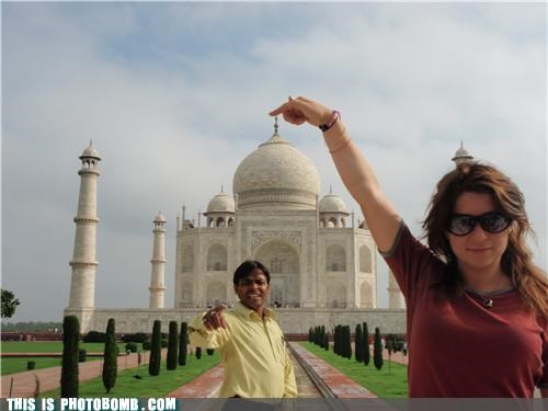 cool guy magic photobomb sunglasses tourist