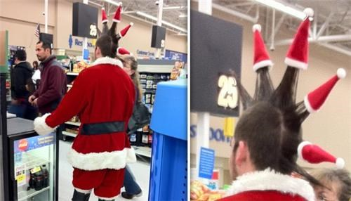 hat,punk,santa,spikes,Walmart