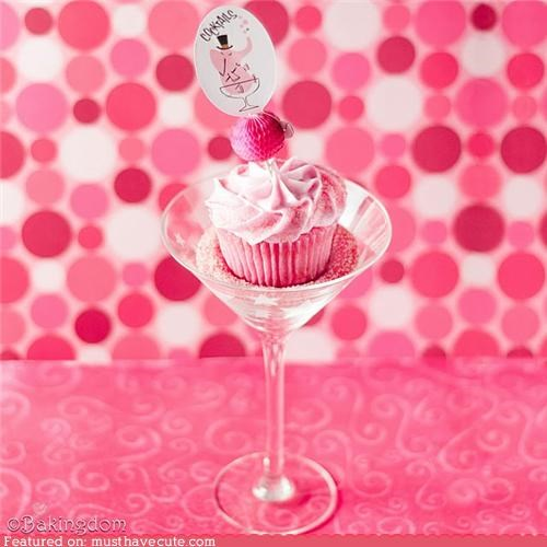 celebration cocktail cosmo cupcake epicute pink - 4309372672