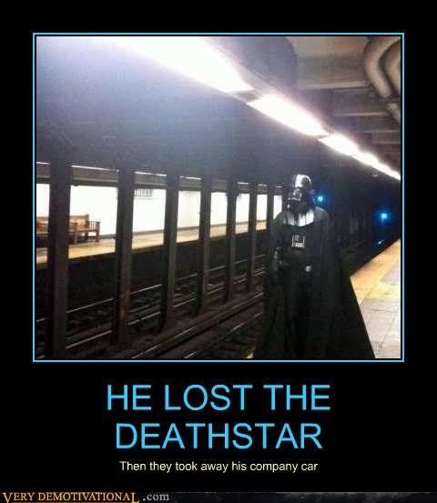 company car,darth vader,Death Star,in this economy,public transportation,star wars