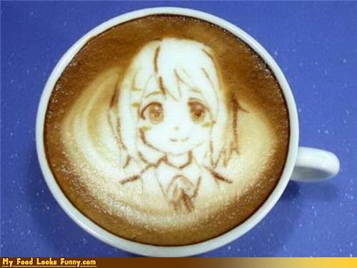 anime,coffee,drawing,espresso,foam,milk