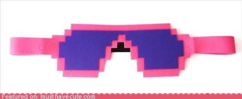 8 bit eye mask mask sleep mask sunglasses - 4310409472