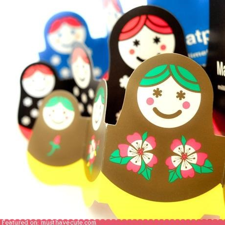 card matroyshka nesting dolls stationary