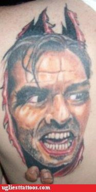 the shining,jack nicholson,yikes,tattoos