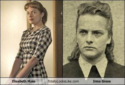concentration camp elisabeth moss Historical irma grese mad men nazi the west wing