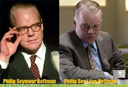actor,blindness,contrast,glasses,homophones,less,method,method acting,more,opposites,outfit,philip seymour hoffman,seeing,transformation