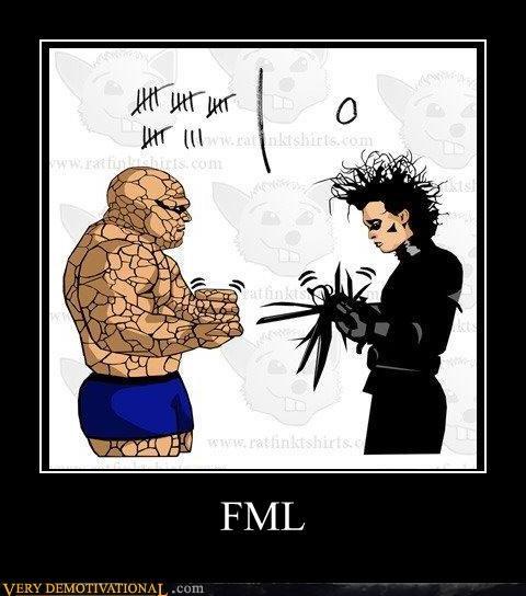 Edward Scissorhands fml rock paper scissors sad but true T.Shirt - 4311293696