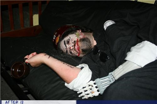 face paint passed out robot hand - 4311884544
