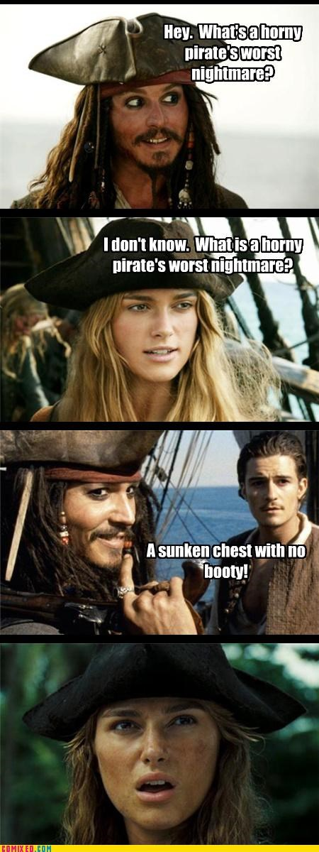 boobs booty history Johnny Depp pirates puns zing - 4312395776
