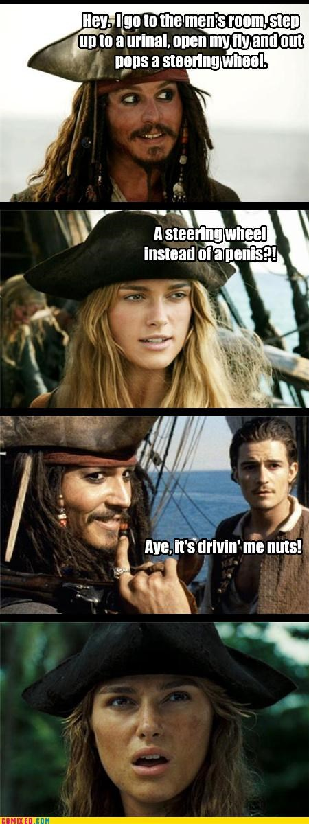 bad joke Movie pirates steering wheel