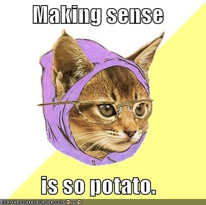 Hipster Kitty,making sense,not mainstream,not overrated,so potato