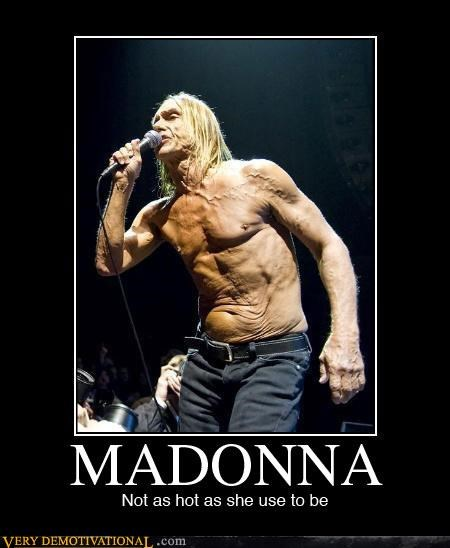 celeb,iggy pop,Madonna,not quite right,punk