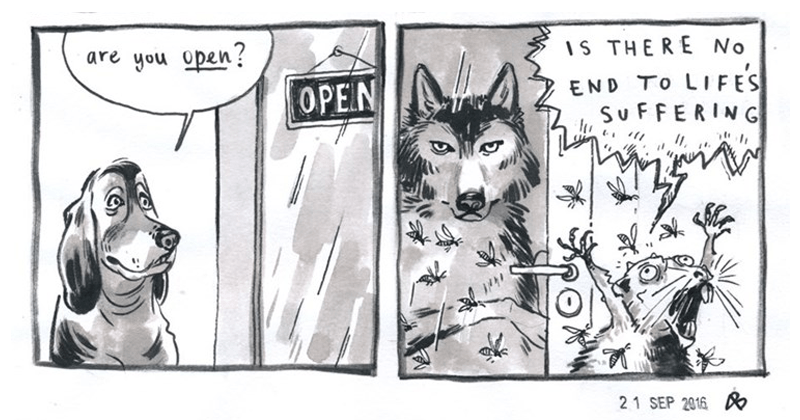 Web comics from Customer Service wolf about working retail and customer service.