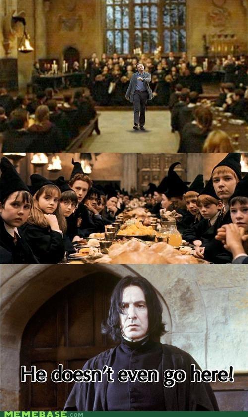 Harry Potter Hogwarts Memes Severus Snape strutting leo witchcraft wizardry - 4314380032