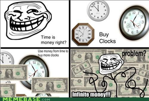 money,problem,time,troll science