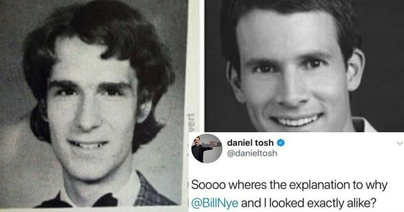 Daniel Tosh gets destroyed by Bill Nye on Twitter after asking why they look so much alike.