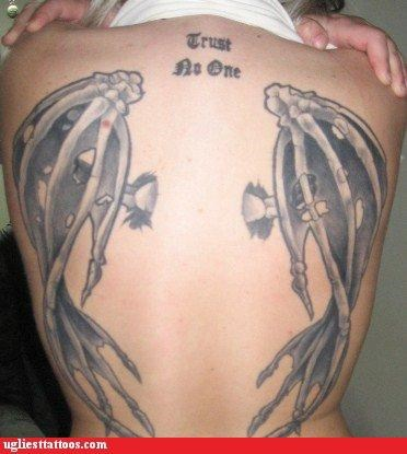 trust wtf tattoos text wings