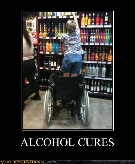 alcohol alright cures drinking handicapped wheelchair - 4315515136